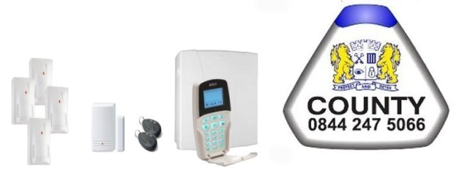 Southern England served by County Alarm Installers - Risco Intruder Alarms and Home Automation